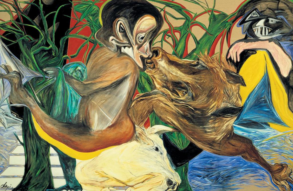 Jacqueline de Jong, Ceux qui vont en bateau', 1987. Collectie van de kunstenaar. Courtesy Dürst Britt & Mayhew, Den Haag (NL) / Château Shatto, Los Angeles (US).