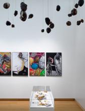 """Installation view """"Pinball Wizard: The Work and Life of Jacqueline de Jong,"""" 2019, Stedelijk Museum Amsterdam. Photo: Gert Jan van Rooij."""
