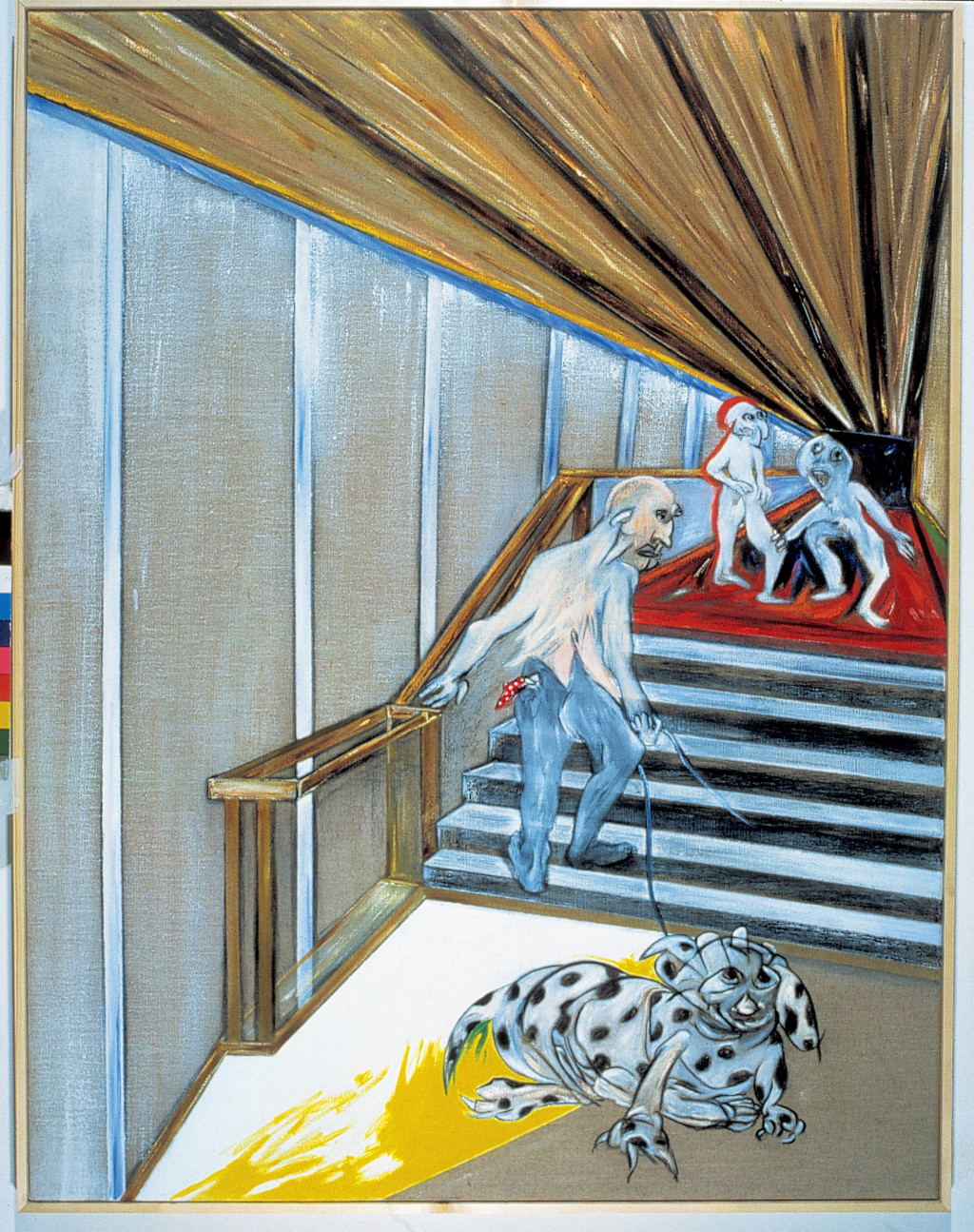 "Jacqueline de Jong, ""Upstairs-Downstairs,"" 1985. Collection Amsterdam City Hall. Courtesy of the artist."