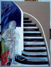 "Jacqueline de Jong, ""Upstairs-Downstairs,"" 1985. Private collection. Courtesy of the artist."