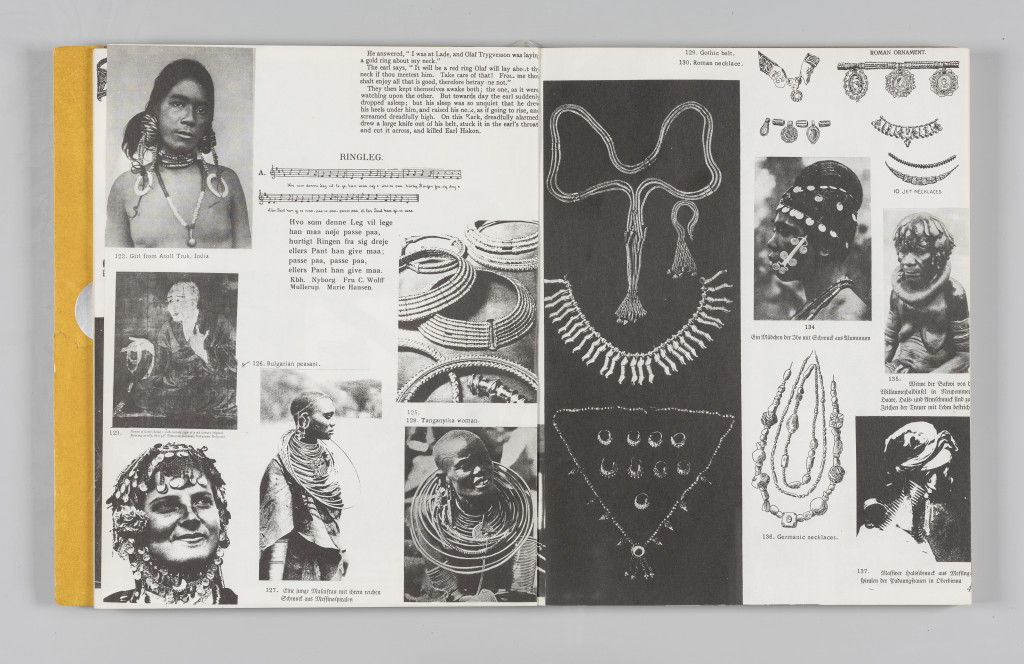 "Imagery of multiracial people ringed with jewels and precious metals, ""The Situationist Times"" 5 (December 1964), pages 48–49. All reproduction, deformation, modification, derivation, and transformation of ""The Situationist Times"" is permitted."