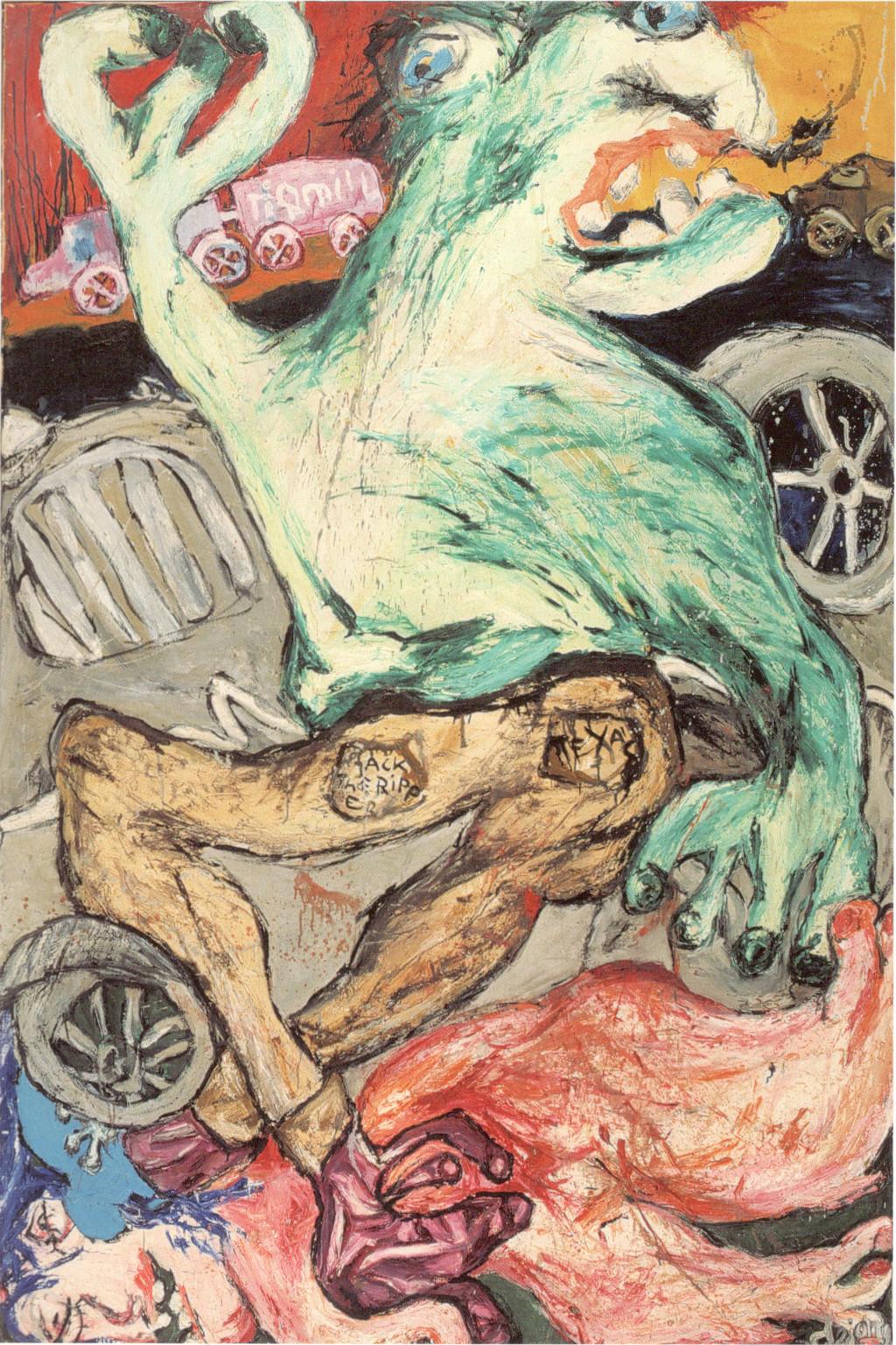 "Jacqueline de Jong, ""Playboy no. 1,"" 1964. Collection Cobra Museum of Modern Art, Amstelveen. Courtesy of the artist."