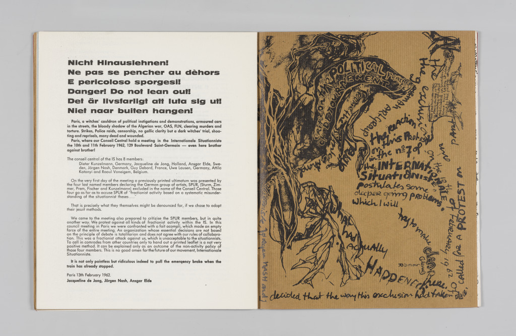 """Jacqueline de Jong, """"Critic on the Political Practice of Détournement,"""" """"The Situationist Times"""" 1 (May 1962), no page number. All reproduction, deformation, modification, derivation, and transformation of """"The Situationist Times"""" is permitted."""