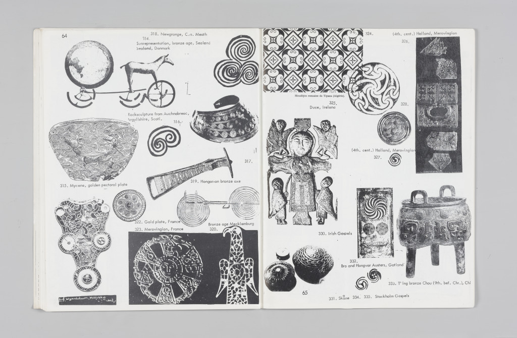 "Imagery of spirals, ""The Situationist Times"" 3 (January 1963), pages 64–65. All reproduction, deformation, modification, derivation, and transformation of ""The Situationist Times"" is permitted."