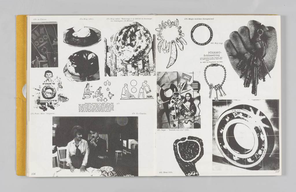 """Image of a keyring, no. 480, """"The Situationist Times"""" 5 (December 1964), page 136–137. All reproduction, deformation, modification, derivation, and transformation of """"The Situationist Times"""" is permitted."""