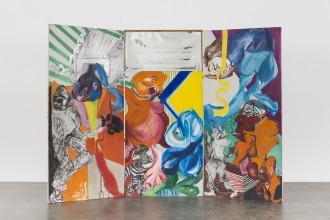 """Jacqueline de Jong, """"Le Salau et les Salopards"""" (Bastards and Scumbags), 1966. Collection Les Abattoirs, Musée – Frac Occitanie Toulouse. Photo: Elon Schoenholz. Courtesy Dürst Britt & Mayhew, The Hague (NL) / Château Shatto, Los Angeles (US)."""