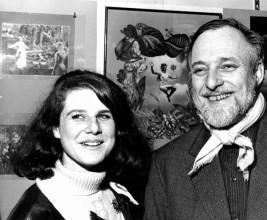Jacqueline de Jong and Asger Jorn, Paris, at an exhibition by Jacques Prévert, 1961. Archive Jacqueline de Jong.