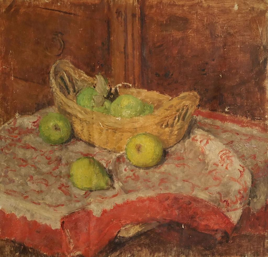 Bé de Waard, 'Still Life with Pears', date unknown, oil on canvas, private collection.