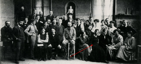 Matisse and students, Académie Matisse, 1909, photo: Archives Matisse