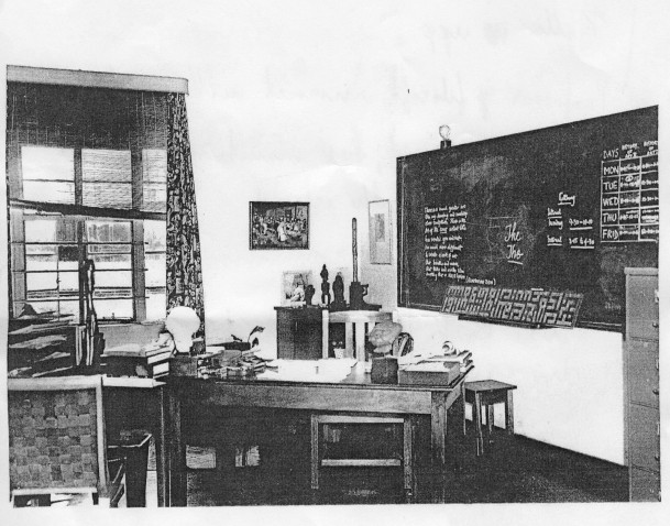 Art history room (kunstgeschiedenislokaal), University of Durban, Prof C Lxxxx History of Art, Salisbury Island. Foto: Kwa-Zulu Archives.