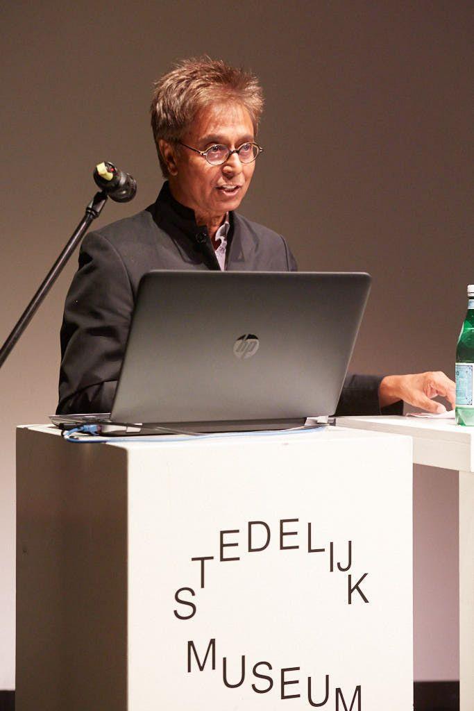 Sarat Maharaj in Stedelijk Museum Amsterdam, May 30, 2018. Photo: Ernst van Deursen.