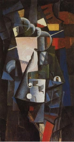 Kazimir Malevich: Vanity Box, 1914, 25 x 49, oil on canvas, State Tretiakov Gallery, Moscow