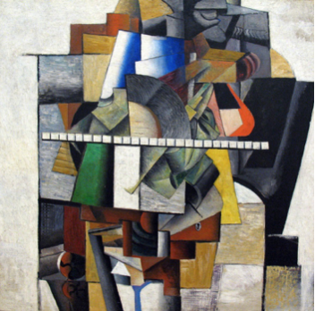 Kazimir Malevich: Portrait of Mikhail Matiushin, 1913, oil on canvas, 106.5 x 106.5, State Tretiakov Gallery, Moscow