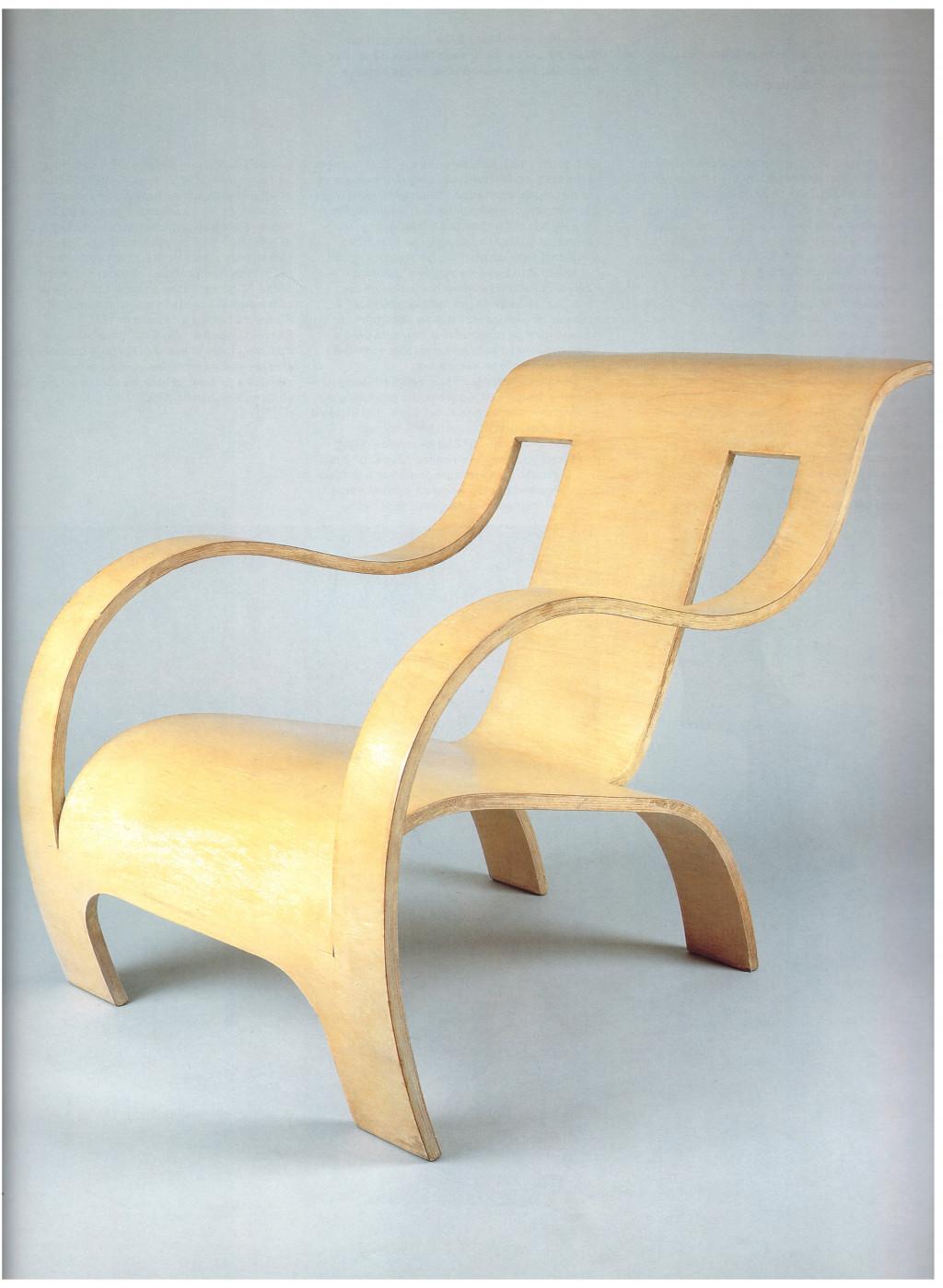 Fig. 14. Gerald Summers, 'Plywood armchair', 1933-1934. Bron: Vegesack 1996, p.110, cat.nr. 42
