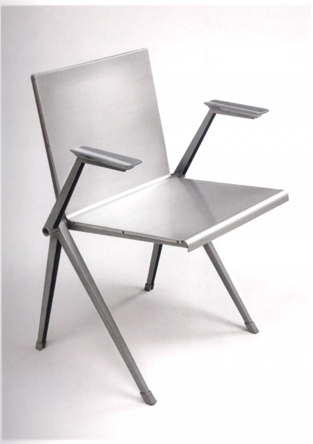 Fig. 20. Gerrit en Wim Rietveld, 'Mondial' stoel (prototype), staal en aluminium, 1957. Bron: Van Zijl 2010, p. 113