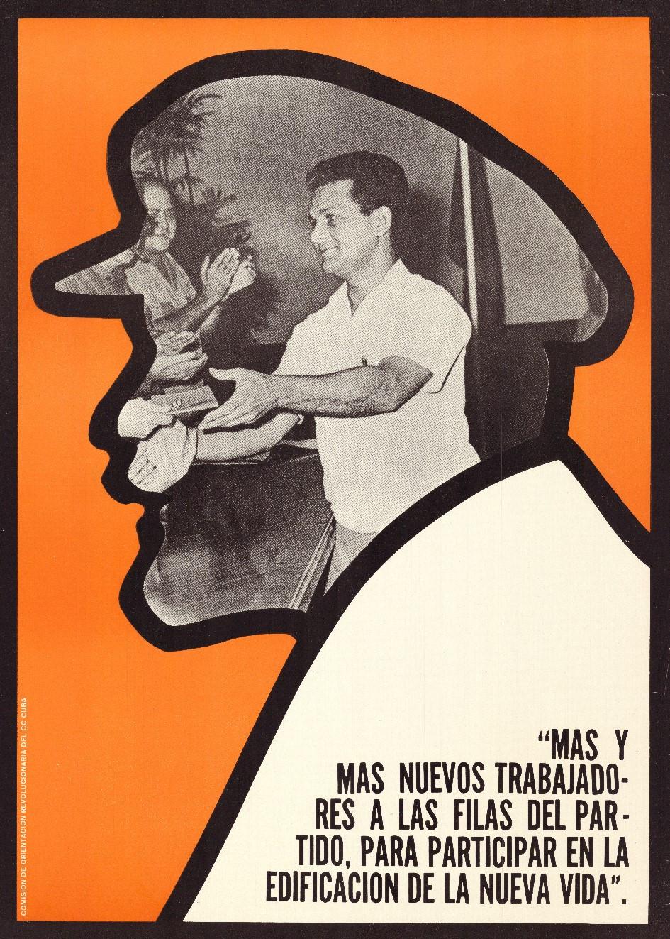 Jesús Forjans, Mas y mas nuevos trabajadores a las filas del partido, para participar en la edificacion de la nueva vida, 1970. Collectie Stedelijk Museum Amsterdam