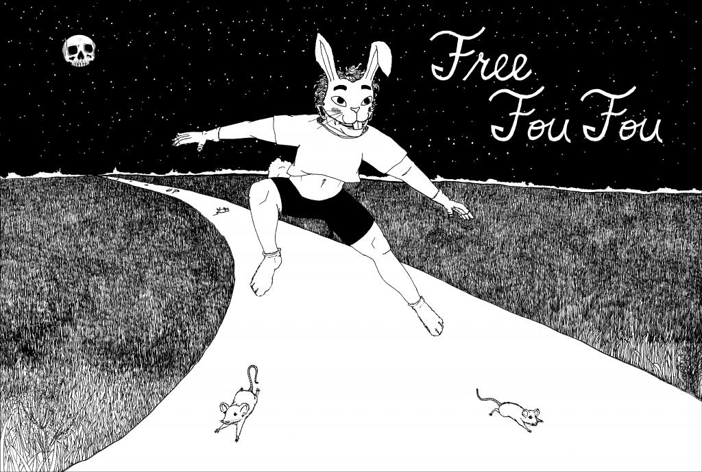 "Joy Mariama Smith, ""Free Fou Fou"", 2018, mixed media, courtesy the artist. Illustration by Sarah Maloney."