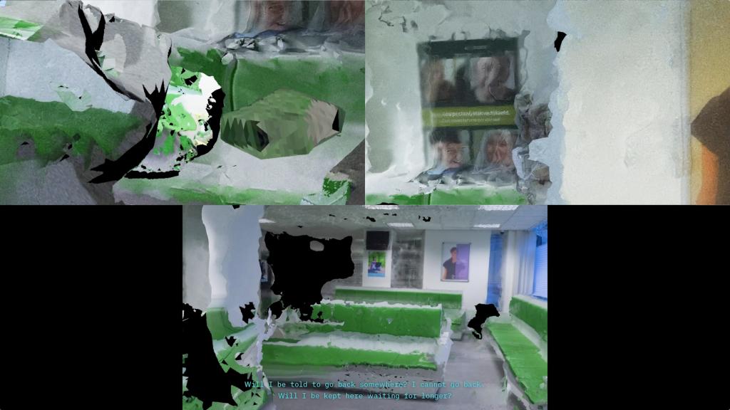 "Juan Arturo García, ""Non-Linear Trajectories"", 2018, tri-channel HD video, color, sound, 6 minutes, courtesy the artist."