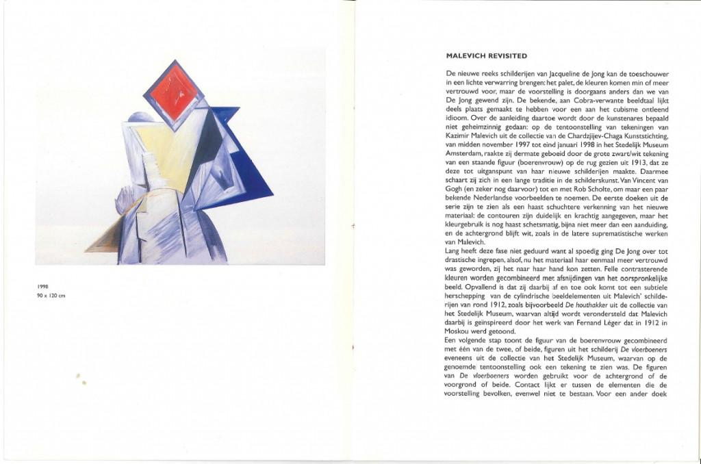 """Preview catalogue """"Jacqueline de Jong: Harvest,"""" 2000."""