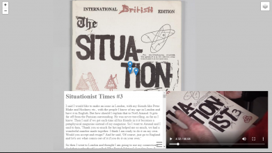"Screenshot from the online interface to ""The Situationist Times."""