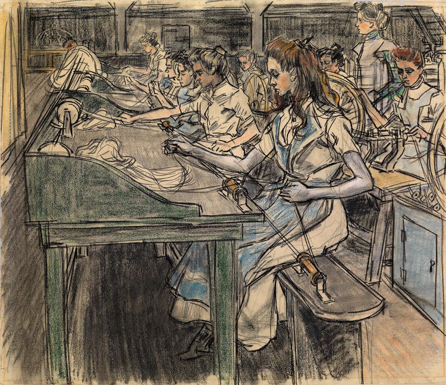 Jan Toorop, De pitpluisters, 1905