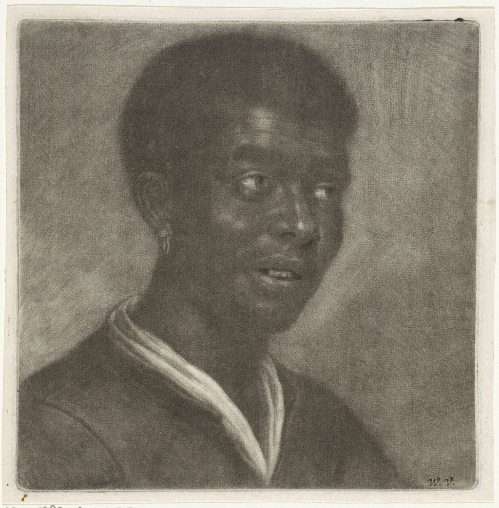 "Wallerant Vaillant, ""Bust of a Dark Man,"" 1658–1677. Mezzotint, 14.4 × 14.0 cm. Collection Rijksmuseum. Creative Commons 0: Public Domain."