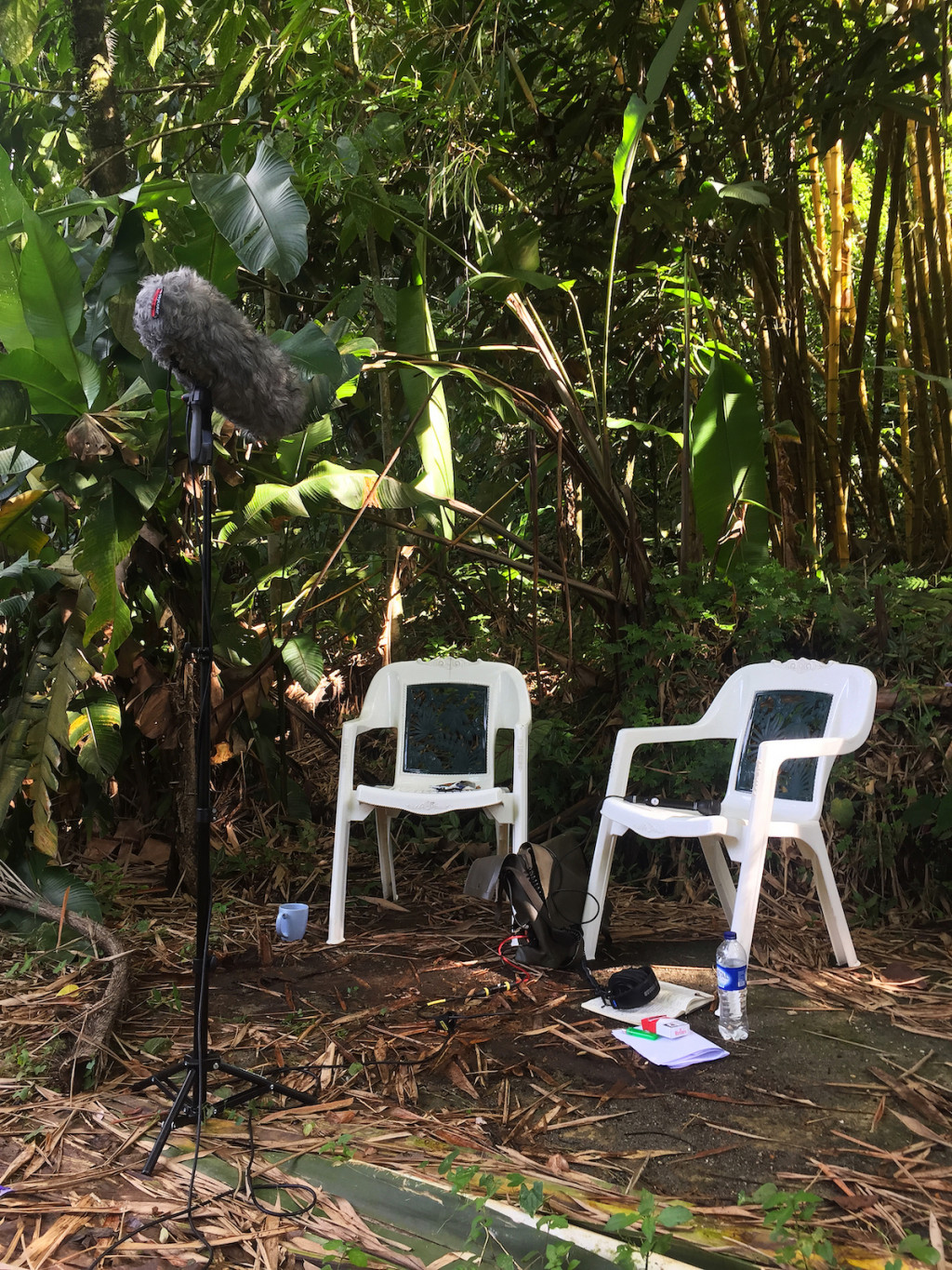Interview setting with a person who was suspected of involvement in RARA, Quibdó, Colombia, June 2017.