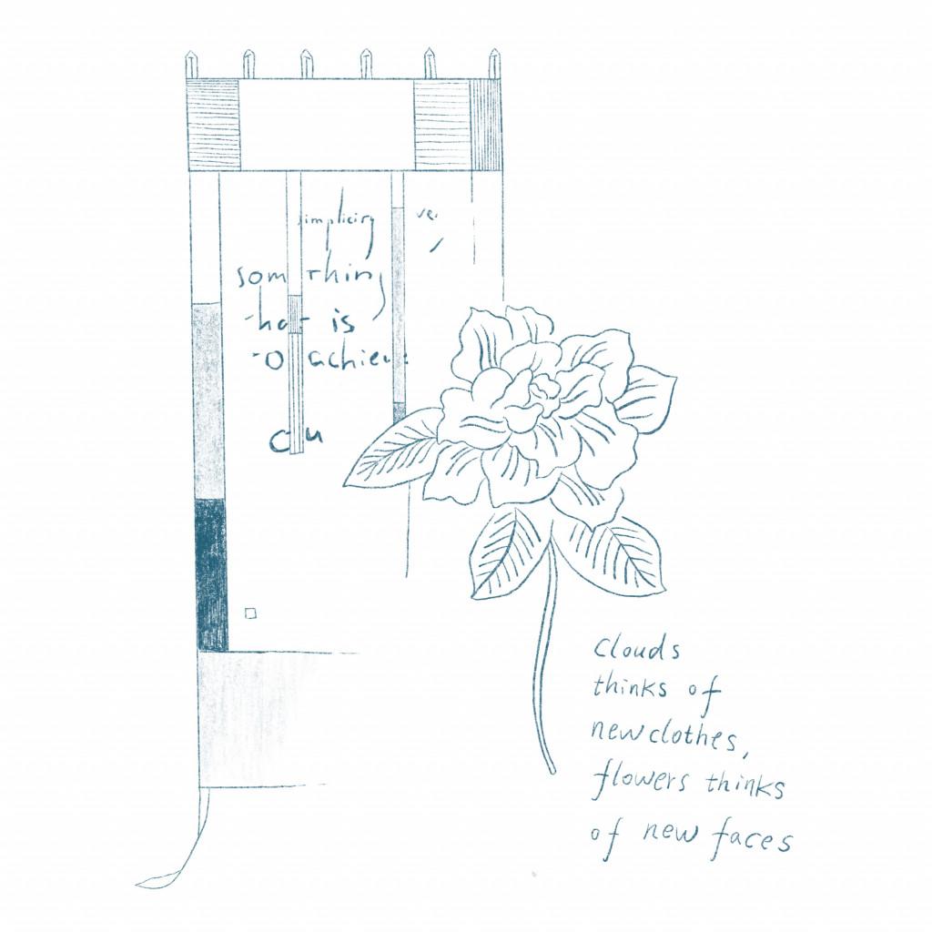Illustratie door Haitham Haddad naar Evelyn Taocheng Wangs 'Spreading Elegance' en 'Quoted Elegance No. 1-5', beide 2019.