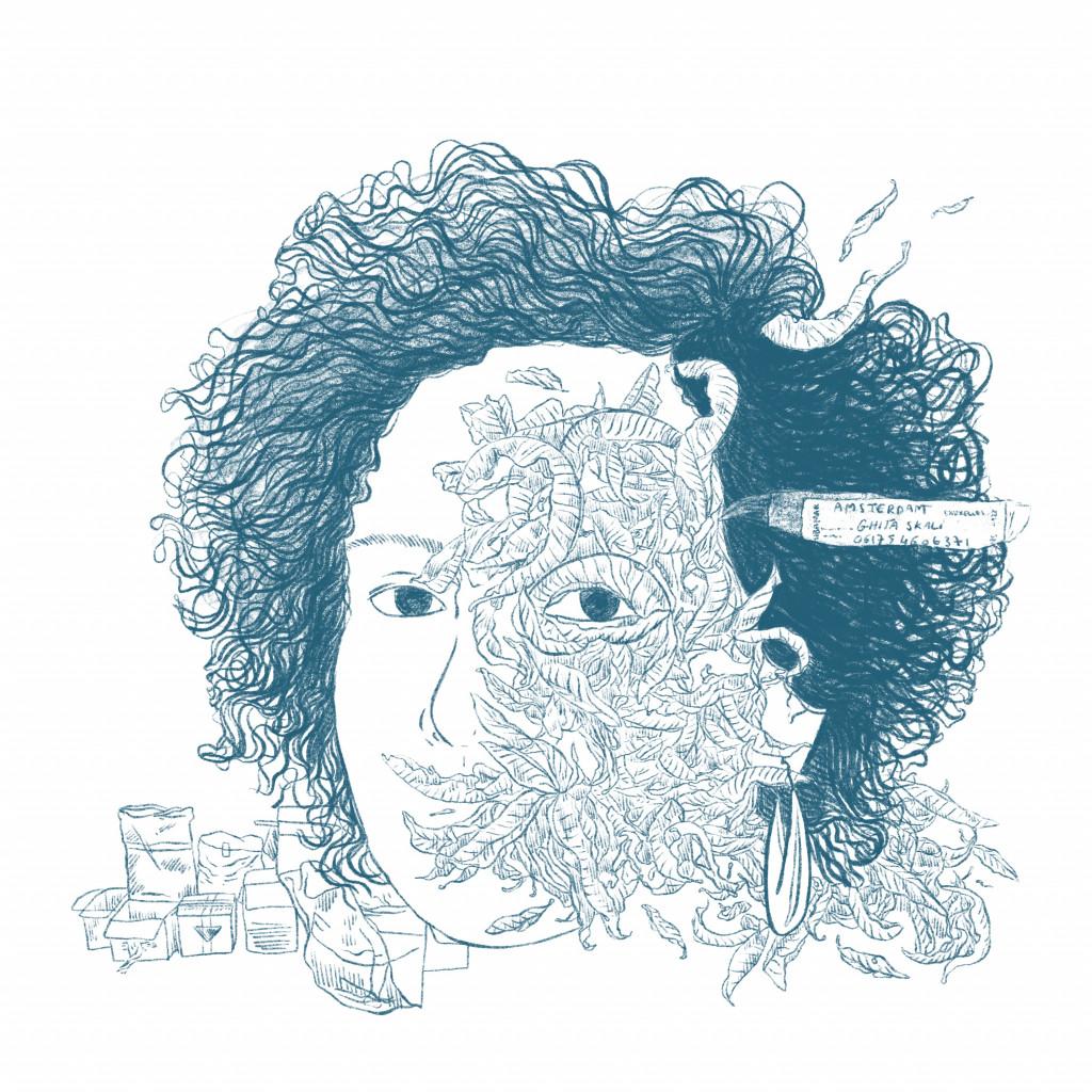 "Illustration by Haitham Haddad after Ghita Skali's ""Ali Baba Express: Episode 2,"" 2020."