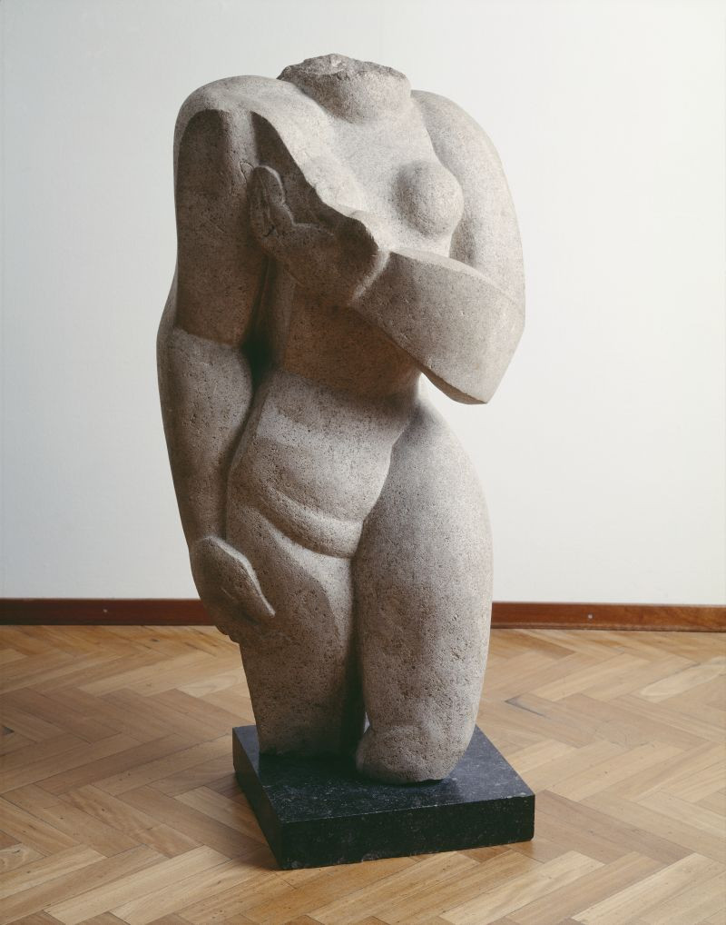 "Ossip Zadkine, ""Vrouwentorso,"" 1933. Collection Stedelijk Museum Amsterdam, acquired in 1953. Courtesy Pictoright Amsterdam 2020."