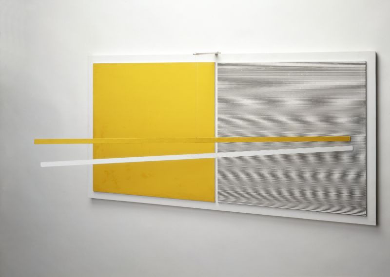 "Jesus Rafael-Soto, ""Parallèles: jaune et blanc,"" 1965. Collection Stedelijk Museum Amsterdam, acquired in 1966. Courtesy Pictoright Amsterdam 2020."