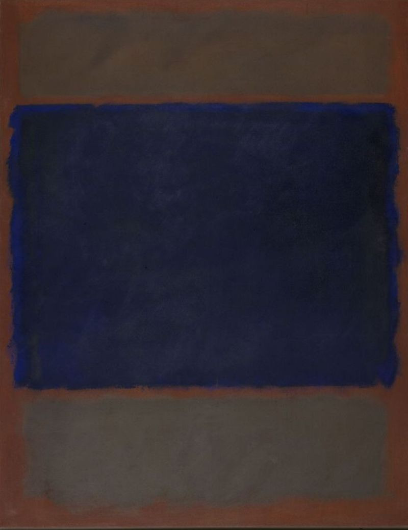 "Mark Rothko, ""Untitled (Umber, Blue, Umber, Brown),"" 1962. Collection Stedelijk Museum Amsterdam, acquired in 1986. Courtesy Pictoright Amsterdam 2020."