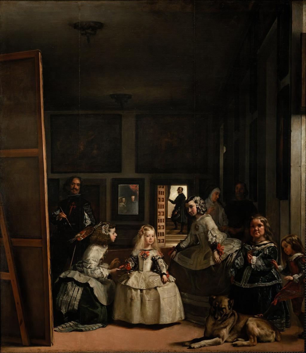 """Diego Velázquez, """"Las Meninas,"""" 1656. Collection Museo del Prado, Madrid. Creative Commons 0: Public Domain."""