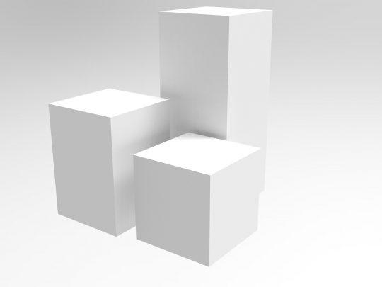 """White Acrylic Plinths,"" GJ Plastics."
