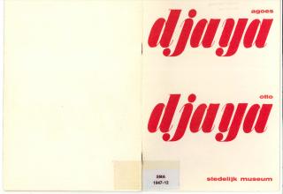 Preview Catalogus Agoes Djaya en Otto Djaya, Stedelijk Museum Amsterdam