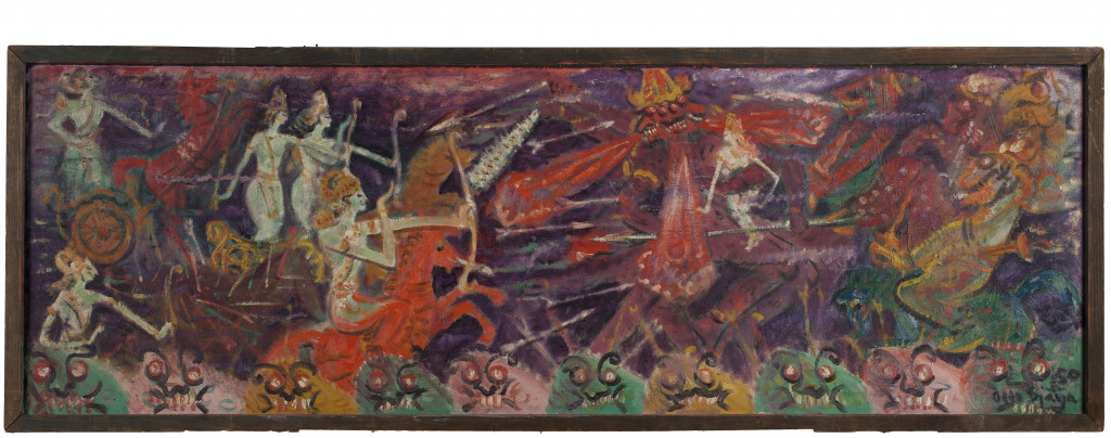 Ill. 6 Otto Djaya, The Battle (Fight Against Monsters), 1950, gift from the Agus Djaya, restored with the generous support of the participants of the BankGiro Loterij, 1950, Stedelijk Museum Amsterdam