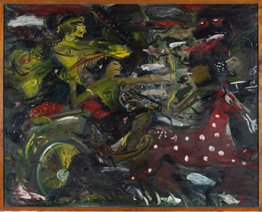 Ill. 10 Agoes Djaya, Strijd (L'épopée), 1944, restored with the generous support of the participants of the BankGiro Loterij, 1949, Stedelijk Museum Amsterdam