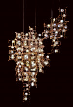 14. Studio Drift, Fragile Future Chandelier 3.5 (2012), phosphor bronze, dandelion seeds, LEDs. Gemaakt under the control of Carpenters Workshop Gallery. Collection Stedelijk Museum Amsterdam. Acquired with the generous support of the Mondriaan Fund