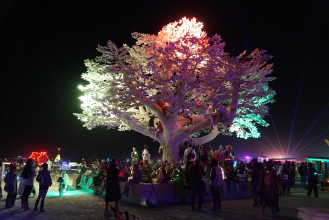 6. GAZM and Studio Drift, Tree of Ténéré at Burning Man, prototype (2017), steel, hand modelled epoxy, paint, rubber, LEDs, electronics, collection GAZM