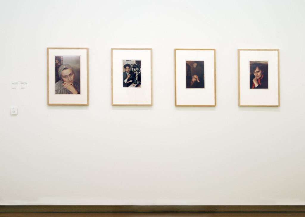 Giselle Freund, from left to right: Adrienne Monnier, 1938-1939; Jean Cocteau, 1939; André Gide, 1939; Colette, 1939. Photo: Peter Tijhuis.