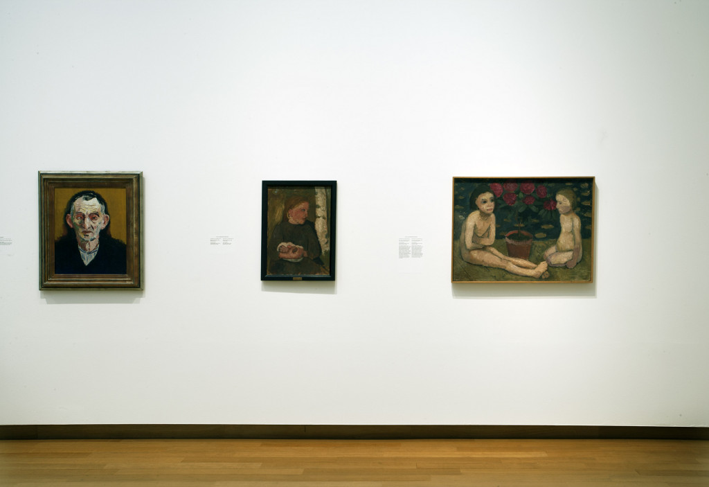 From left to right, works by: Kees van Dongen, gift of VVHK, 1962; Paula Modersohn-Becker, 2 x, both gifts of baron Edouard von der Heydt, Ascona, 1962. Photo: Peter Tijhuis.