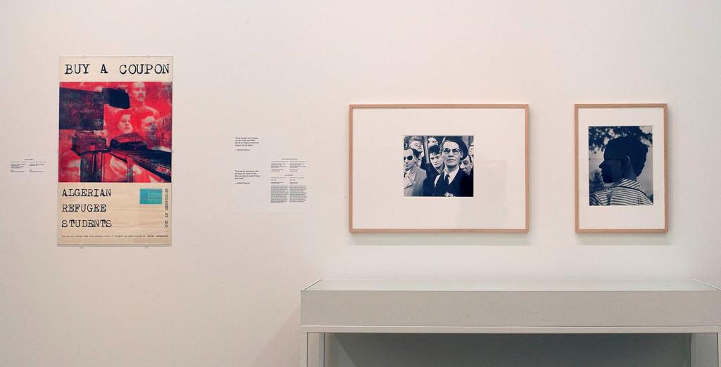 Ralph Prins, Buy a Coupon, Algerian Refugee Students, ca. 1961; Johan van der Keuken, Extreme Right-Wing Demonstration, Arc de Triomphe, 1956; Eva Besnyö, Paris, 1952. Photo: Peter Tijhuis.