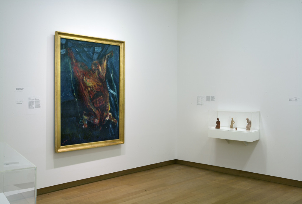 From left to right, works by Waldemar George (publication), Chaim Soutine, Stedelijk Museum, formerly on loan from P.A. Regnault; Moissey Kogan (4 x), far right: gift of Friends of the artist, led by Prof. J. Bronner, 1939. Photo: Peter Tijhuis.