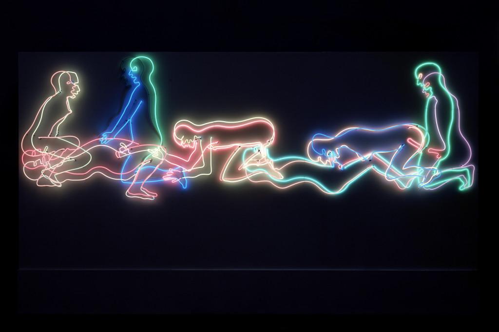 Bruce Nauman, Seven Figures, 1985, coll. Stedelijk Museum Amsterdam © 2021 Bruce Nauman / Pictoright Amsterdam