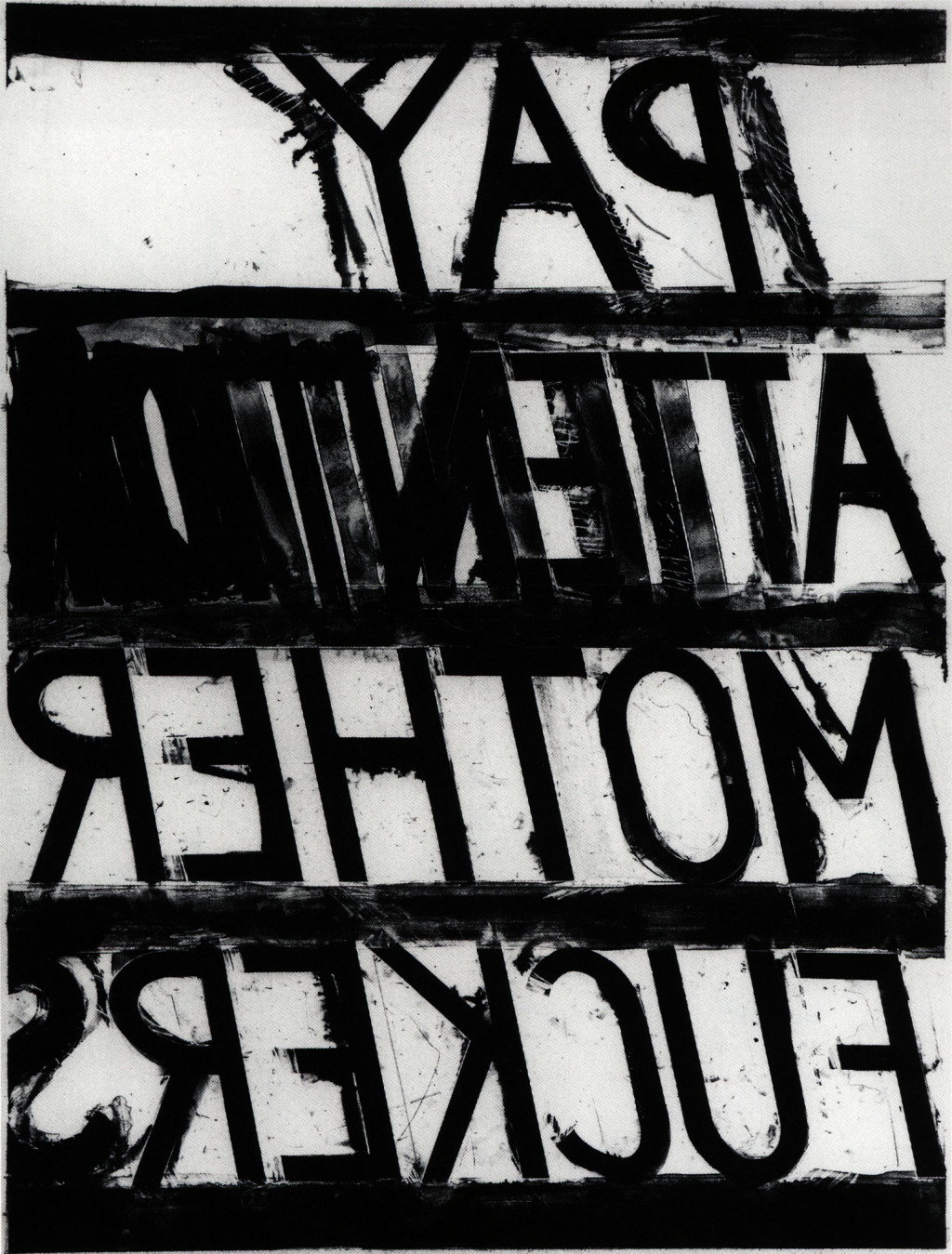 Bruce Nauman, 'Pay Attention', 1973. Uitgegeven door Gemini G.E.L. Courtesy Sperone Westwater, New York. © 2021 Bruce Nauman / Pictoright Amsterdam / Stedelijk Museum Amsterdam