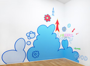 Friendly Good, 1992–2018 acrylic paint on wall, courtesy the artist. Photo: Gert Jan van Rooij