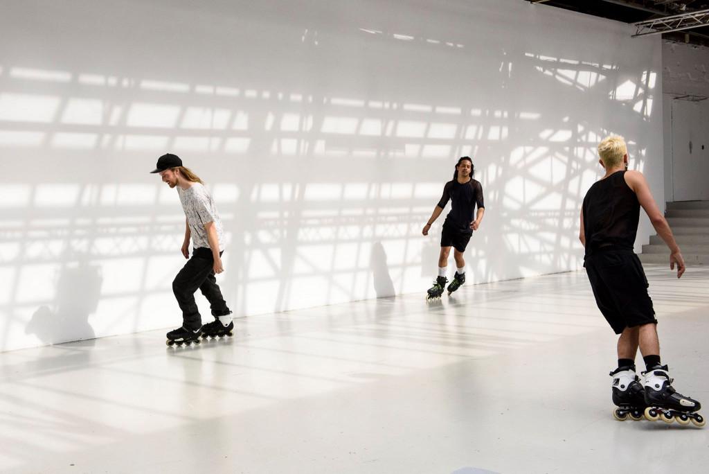 Alex Baczynski-Jenkins, Us Swerve (2014). Performance documentation: Palais de Tokyo, Paris, 2017. Photo: Atelier Diptik