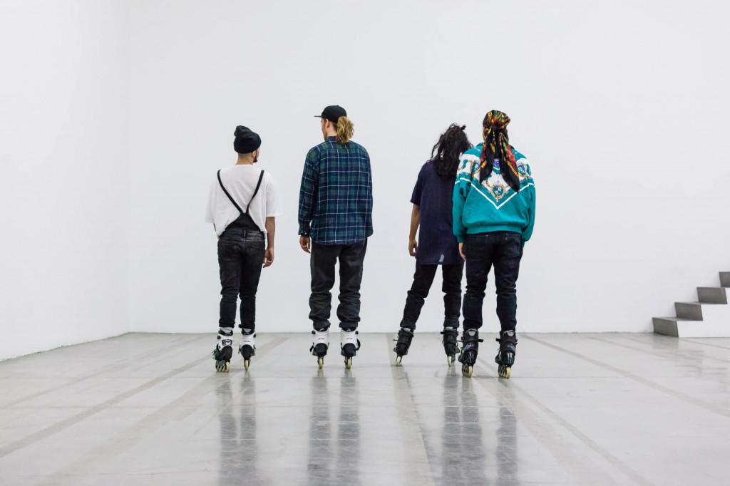 Alex Baczynski-Jenkins, Us Swerve (2014). Performance documentation: Swiss Institute, New York, 2016. Photo: Daniel Pérez