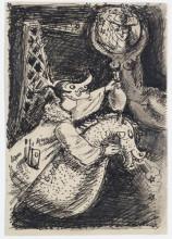 Agoes Djaya, Nieuwjaargroet van Agoes en Otto Djaya aan Sandberg vanuit Parijs, 1947. Collectie Stedelijk Museum Amsterdam.