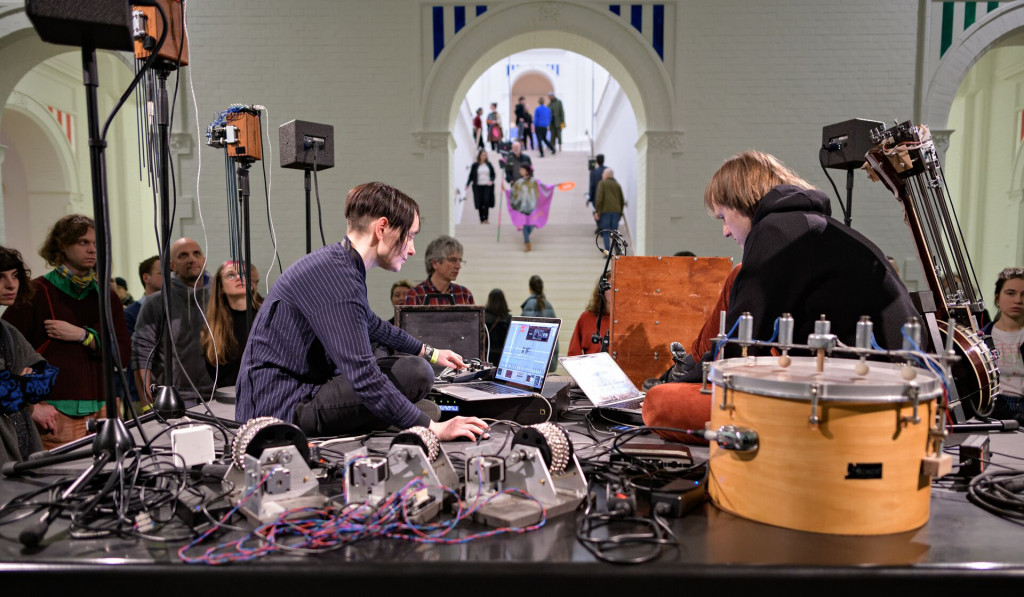 Gamut Inc at Sonic Acts Festival 2019, Stedelijk Museum Amsterdam. Photo by Pieter Kers